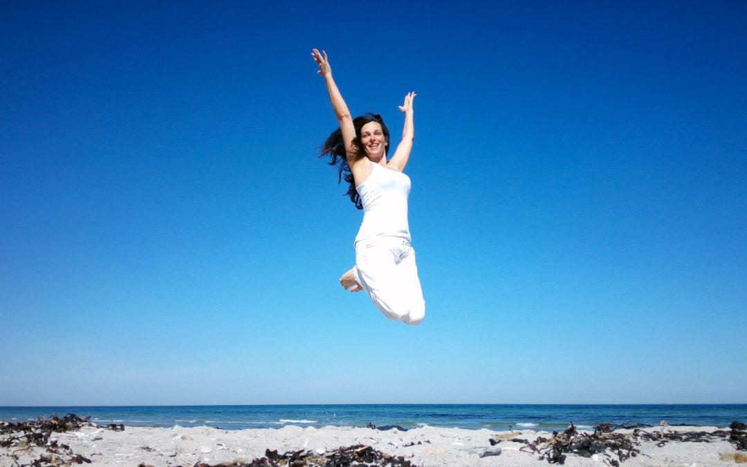Cynthia Lamb Jumping on Beach